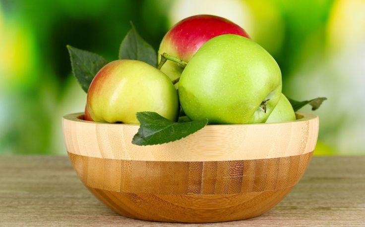 яблоки, зеленые, еда, фон, листья, яблоко, обои, фрукт