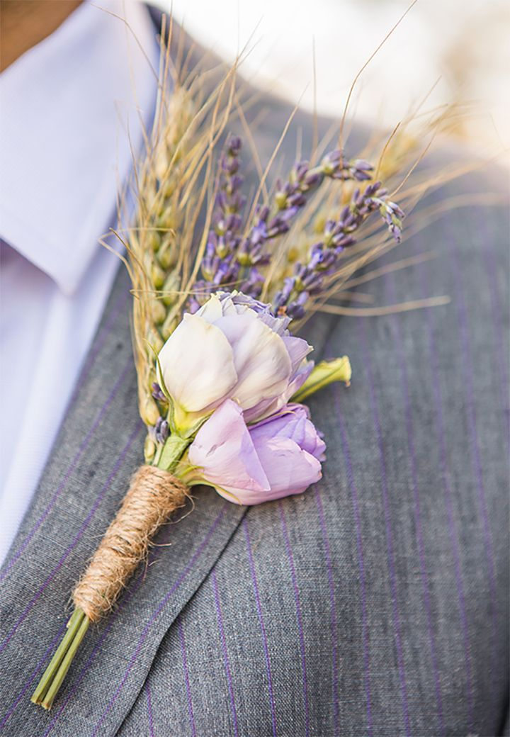 Purple blooms with lavender bout ~ we ❤ this! moncheribridals.com