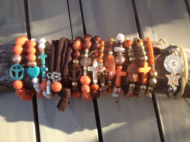 Brown summer bracelet