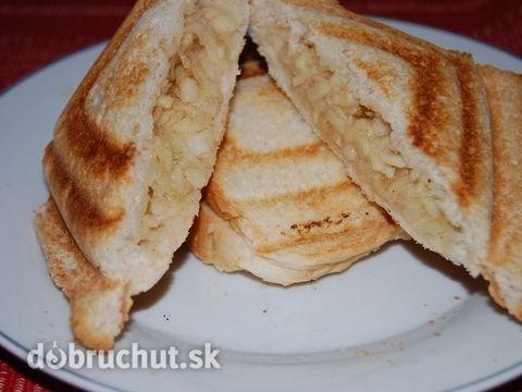 """Fotorecept: Jablková """"štrúdľa"""" starého mládenca (Jablkový toast) -"""