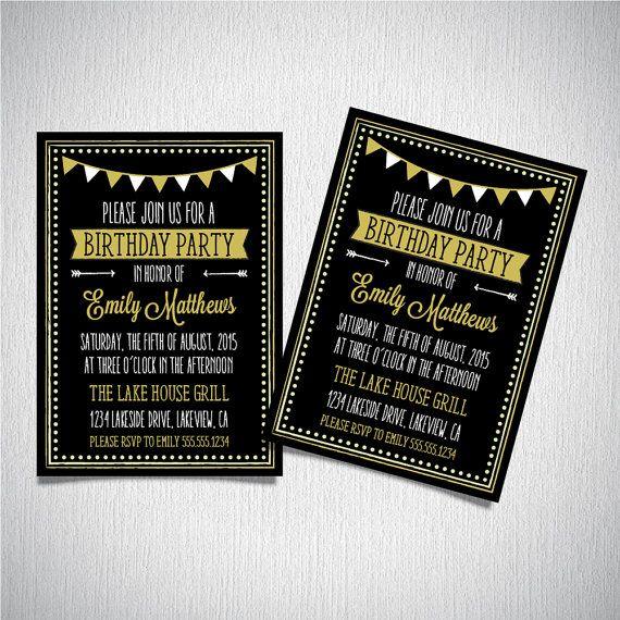 31 best My 40th bday Party images on Pinterest Invitation - microsoft birthday invitation templates