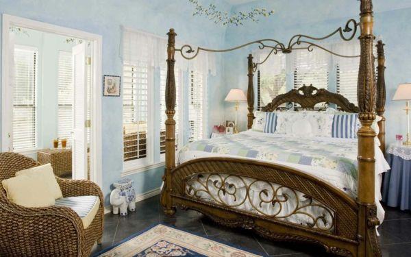 coole einrichtungsideen schlafzimmer einrichten großes bett ...