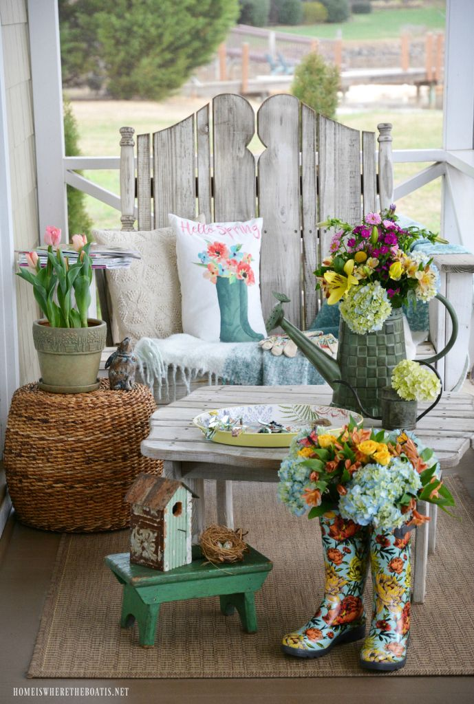 Floral Friday Spring In Bloom On The Porch Spring Porch Decor Spring Outdoor Decor Summer Porch Decor
