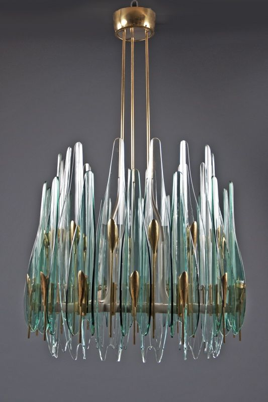Lighting. 1960s Dahlia Chandelier by Max Ingrand for Fontana Arte. Shop It: Bernd Goeckler Antiques.