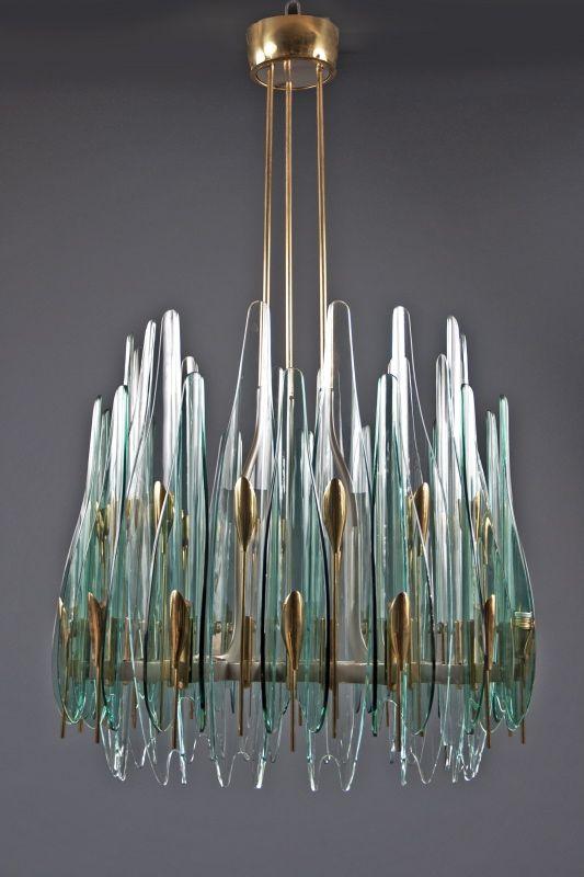 Lighting. 1960s Dahlia Chandelier by Max Ingrand for Fontana Arte. Shop It: Bernd Goeckler Antiques.
