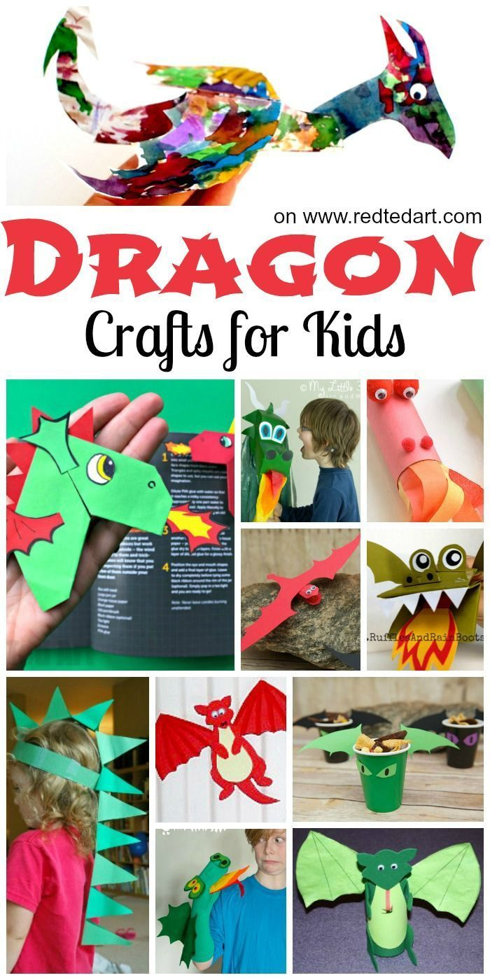 Dragon Crafts for Kids. Dragon Crafts for Preschooler. Perfect Dragon Crafts for St David's Day AND Dragon Crafts for Chinese New Year. Celebrate St David's Day with these St David's Day Welsh Dragon crafts.. or save them for Chinese New Year Dragons #Dragon #Dragoncrafts #welsh #stdavidsday #chinesenewyear #preschool