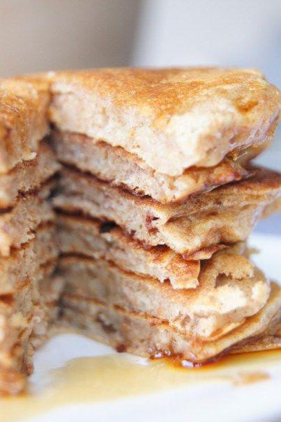 American Pancakes (suikervrij en tarwevrij). Ingrediënten:  • 100 gram speltmeel (volkoren)  • 1 ei  • 1 rijpe banaan, geprakt  • 100ml amandelmelk (suikervrij)  • halve theelepel baking soda  • 1 theelepel (wijnsteen)bakpoeder  • 1 theelepel vanille extract