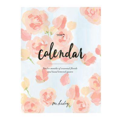 2017 Seasonal Florals & Quotes Calendar