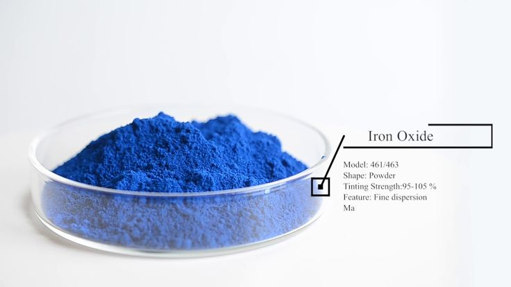 Blue iron oxide iron oxide iron blue