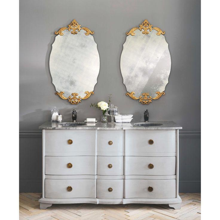Specchio ovale in metallo bronzo H 101 cm | Maisons du Monde