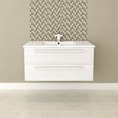 Cutler Kitchen & BathSilhouette Collection 36 Wall Hung Vanity with Top