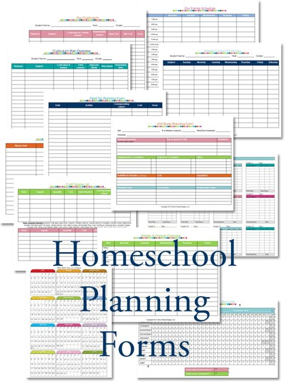homeschool planning forms from confesions of a