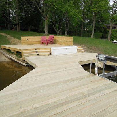 lakeside living outdoor living dock ideas boat dock wooden boats lake
