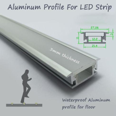 Recessed led de alumínio PERFIL com lábio para FITA led iluminação led de perfis comerciais