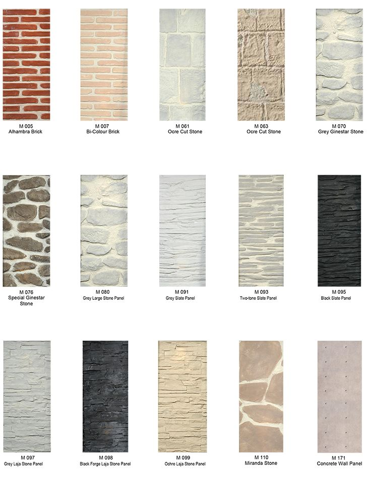 Decorative wall cladding options