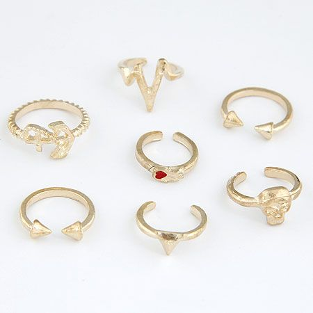 Mid Finger Ring, Zinc Alloy, gold color plated