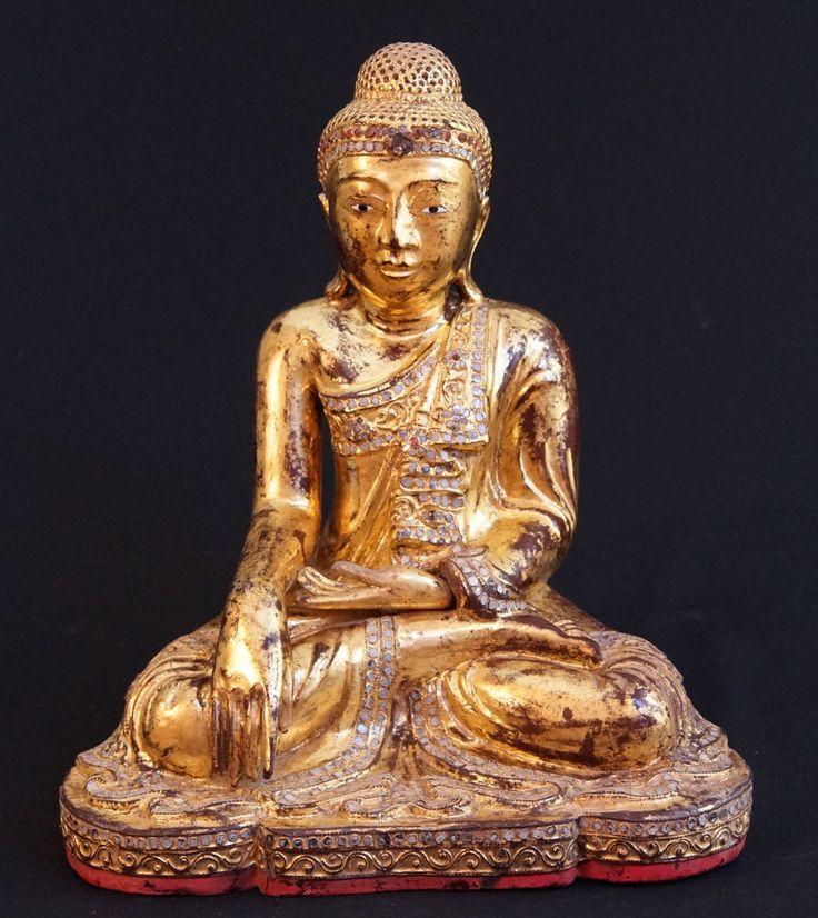 Antique Wooden Buddha Statue for Sale | Antique Buddha Statues #Burma