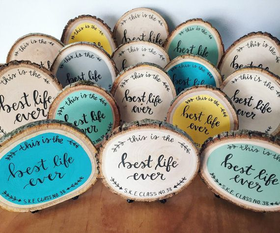Best life ever mini wood slice by WildflowerLettering on Etsy