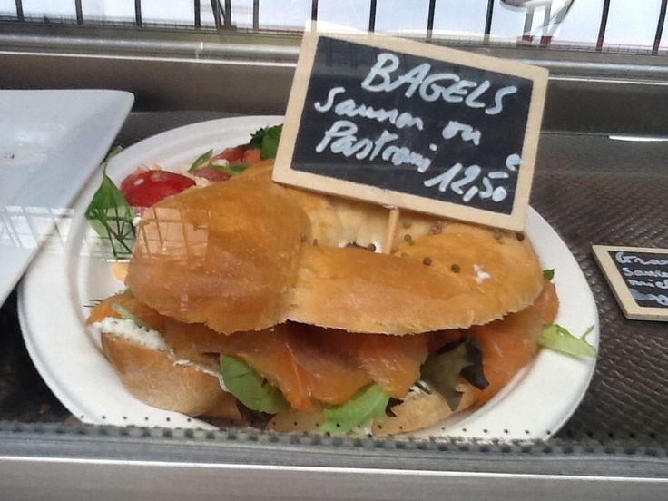 Dégusté ce matin aux Gastropodes ce sublime Bagel saumon!
