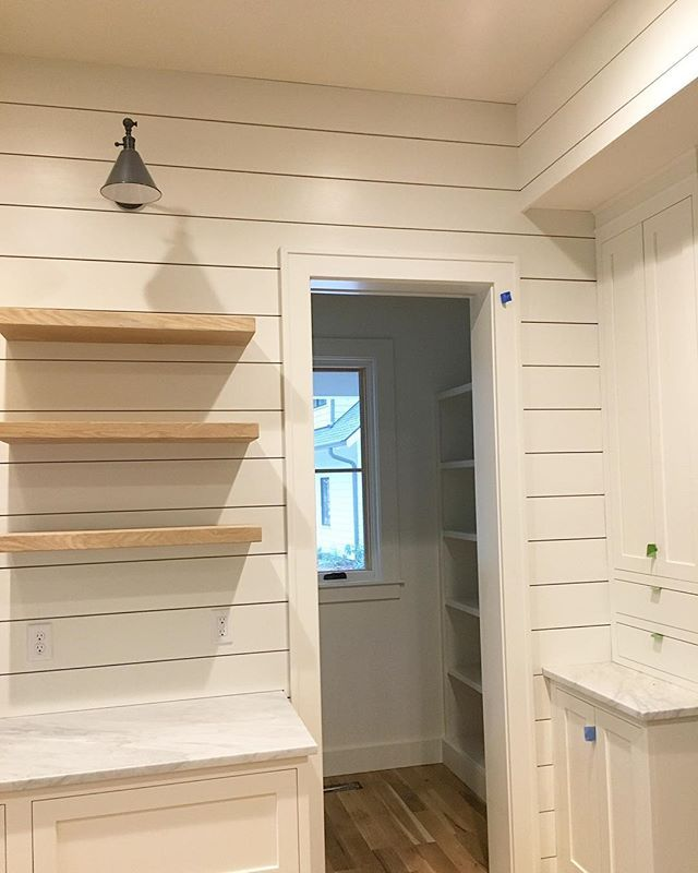 Kitchen corner peaking into the pantry.