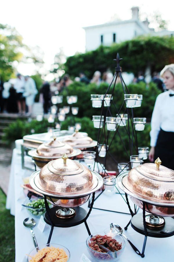 A much prettier alternative to traditional chafing dishes.