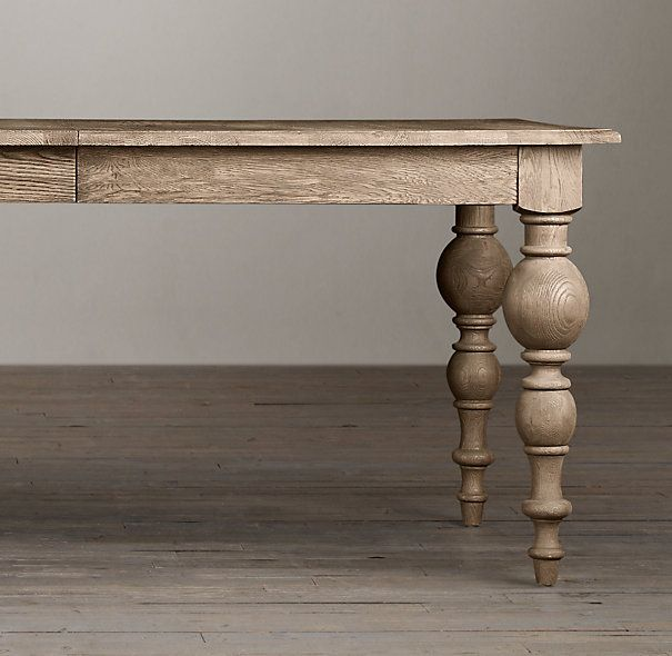 cool exaggerated bulbous legs.... Grand Baluster Rectangular Dining Tables | Rectangular Dining Tables | Restoration Hardware