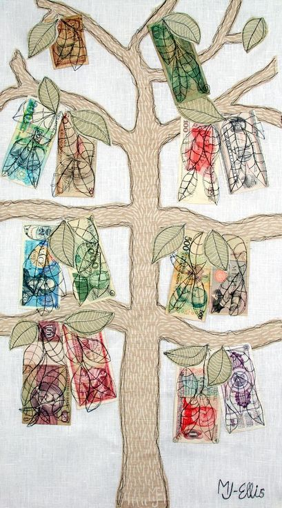 Buy Who said money does not grow on trees? (50x90cm) XL mixed media collage, Collage by Mariann Johansen-Ellis on Artfinder. Discover thousands of other original paintings, prints, sculptures and photography from independent artists.