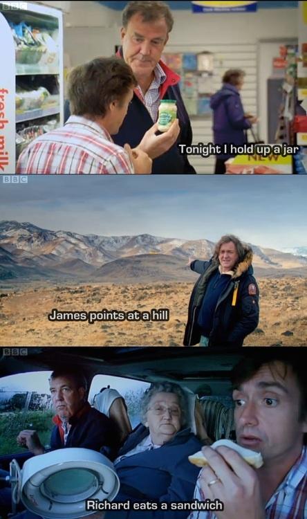I adore Jeremy Clarkson, James May, & Richard Hammond ♥ Top Gear ftw!