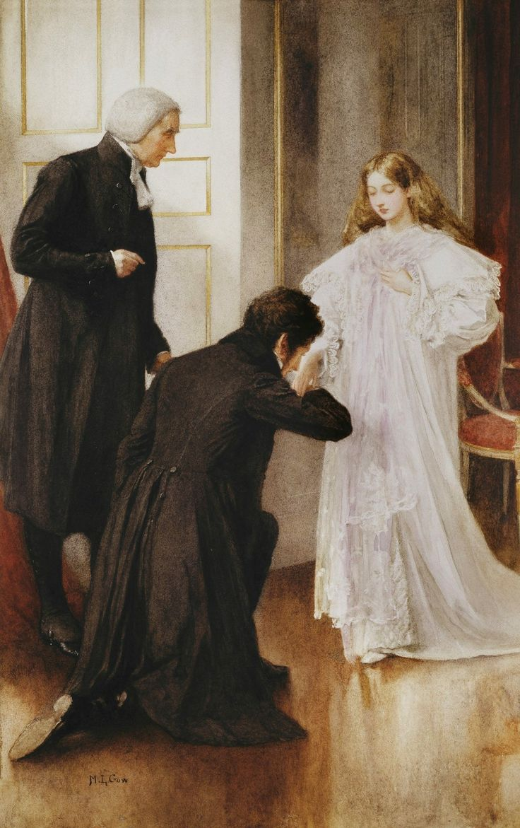 Queen Victoria being informed of her accession upon the death of her uncle, William IV.