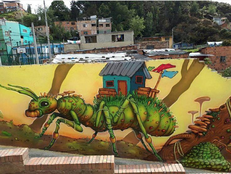 Wosnan1, « Emmet » in  Cerros del Centro / Barrio Santa Rosa de Lima, Bogotá , Colombia, 2017