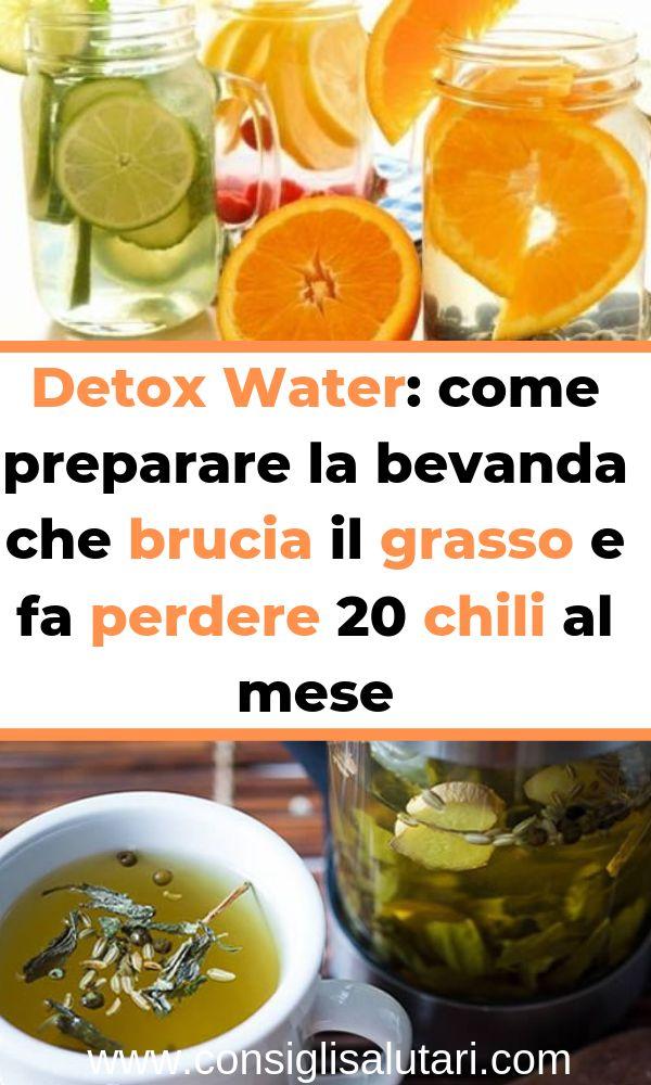 Detox Water: come preparare la bevanda che brucia il grasso e fa perdere 20 chil…