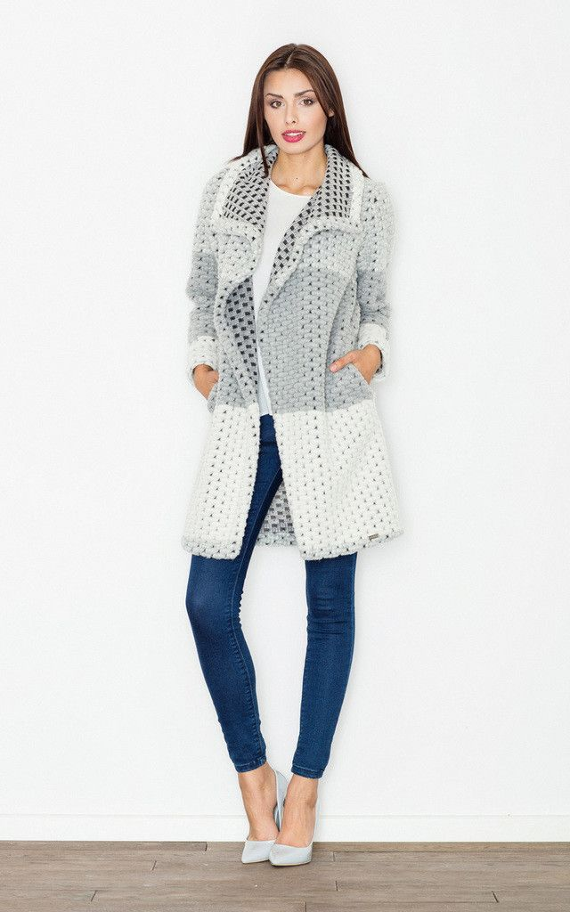 Grey Wool Coat - SilkFred