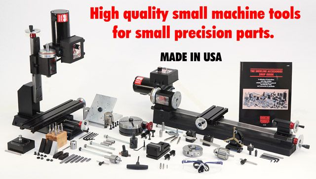 Sherline Lathes and Milling Machine - what else do you need (as long as the part is less than 2 or 3 inches).  But, it's great for small parts.  Cutting steel is incredibly  soothing.