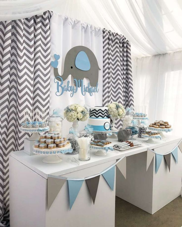 Baby Elephant Baby Shower Party Ideas