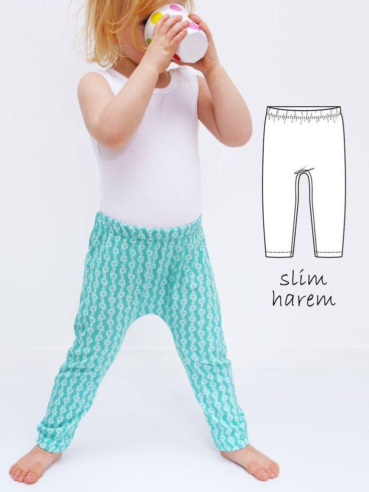 HENLEY - Slim Harem Leggings Sewing Pattern - Stretch