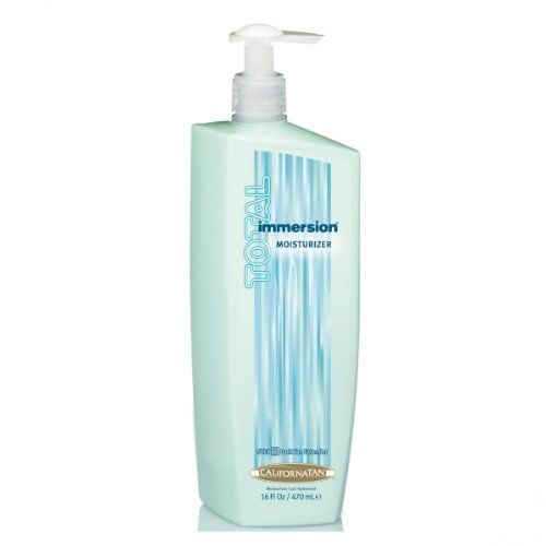 California Tan Total Submersion 12 Oz by California Tan. $6.55. Feel: Moisture-rich, fast-absorbing lotion. 16 oz. Fragrance: Water Lily. Best for: Everyone who wants to extend their tanning results. Use: Daily to extend tanning results, plus after showering or bathing. Extends, enhances, and completes your tan with intense hydration and skin conditioning benefits. Step 2 Body Wash, 12 oz. Save 56%!
