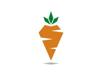 Carrot logo design trend yuri krasnoshek flahman