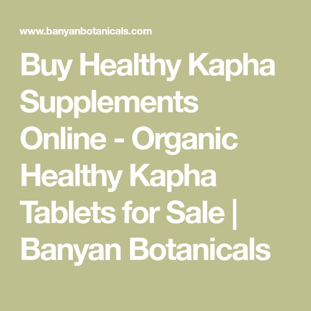 Buy Healthy Kapha Supplements Online - Organic Healthy Kapha Tablets for Sale | Banyan Botanicals