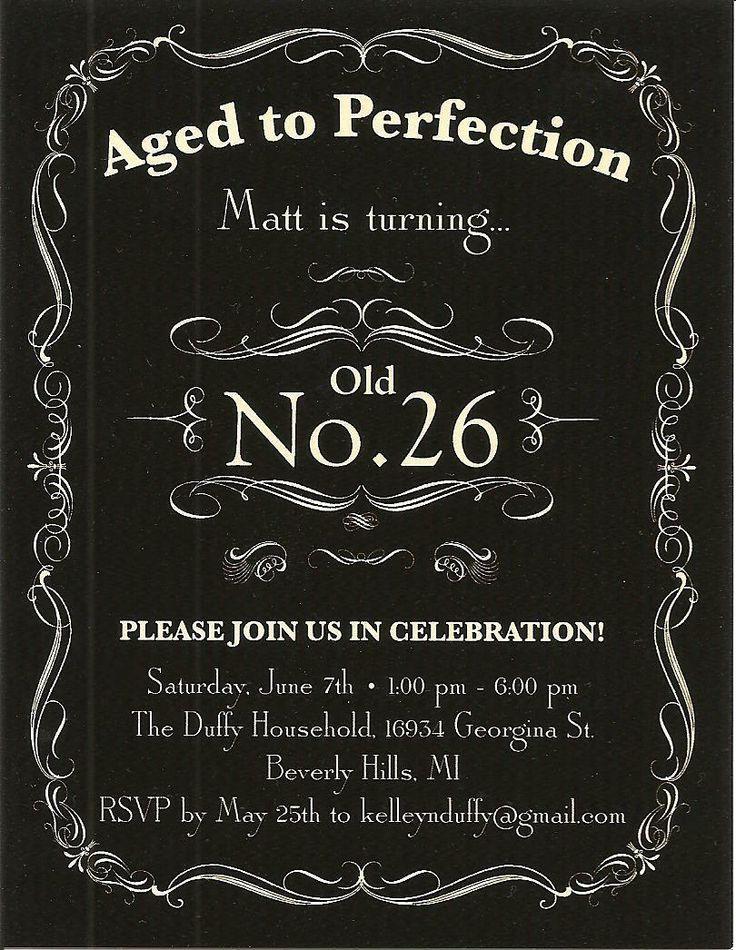 Matt's 26th Birthday Invitation | PARTIES Jack Daniel's ...