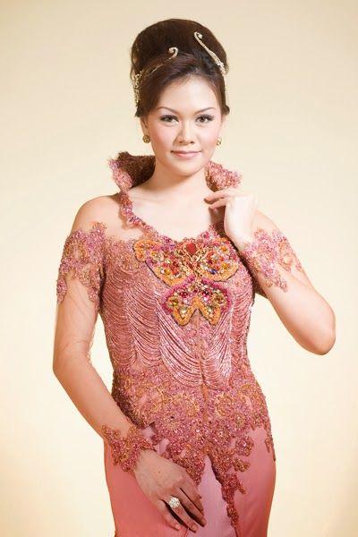 new wedding kebaya dress - kebaya modern - kebaya wedding - bridal kebaya 2016 - pink
