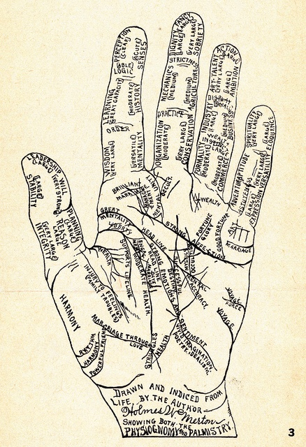Hand diagram: palmistry | Flickr - Photo Sharing!
