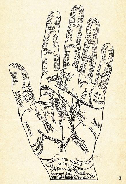 Hand diagram: palmistry | Flickr - Photo Sharing!