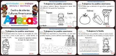 Tabajamos la lecto-escritura centro de interes los Aztecas PORTADA