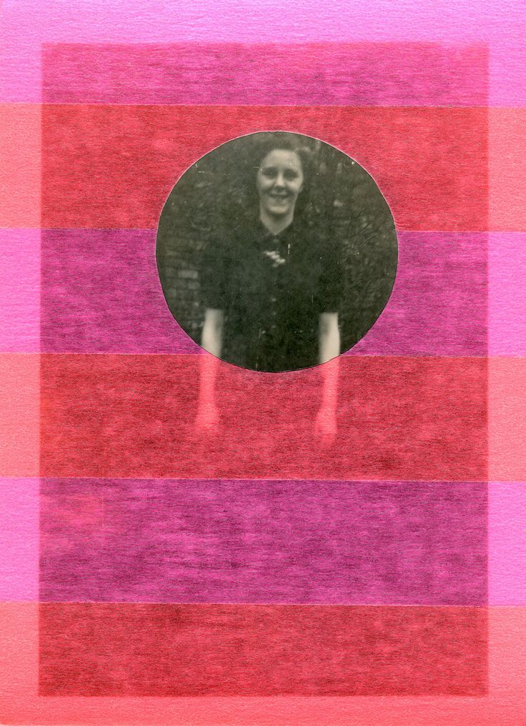 Arte Fluorescente, Collage Vintage Online Su Foto Ritratto Donna Sorridente