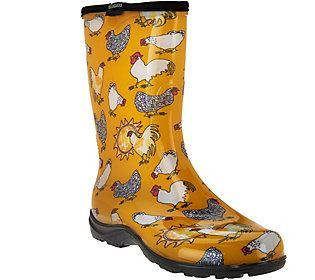 Sloggers Chickens & Suns Garden Boots w/ Comfort Insoles