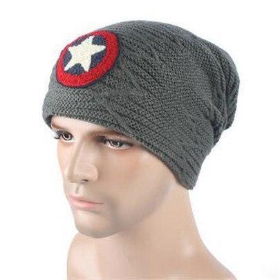 Men Velvet Skullies Knit Hat Bonnet Winter Warm Knitted Wool Caps Hats Braid Sta…   – Products