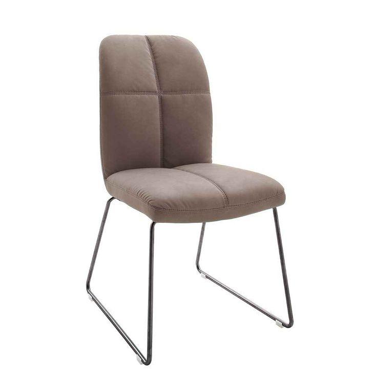 Elegant Stuhl in Schlamm Kunstleder Edelstahl Anthrazit er Set Jetzt bestellen unter https moebel ladendirekt de kueche und esszimmer stuehle und hocker