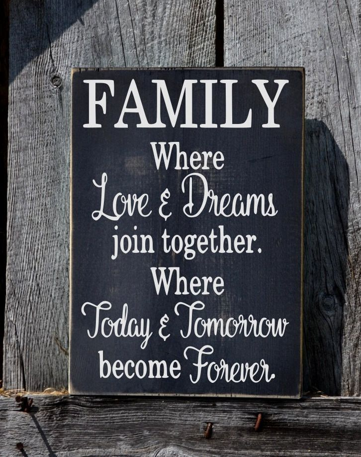 Family Sign Custom Home House Signs Hand Painted Love ...