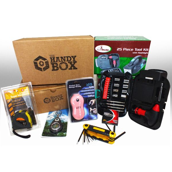 Eric/Jason: Designed for handy men and women (or wanna-be handy men and women), The Handy Box monthly subscription box delivers handy tools and handy gadgets to your door every month.
