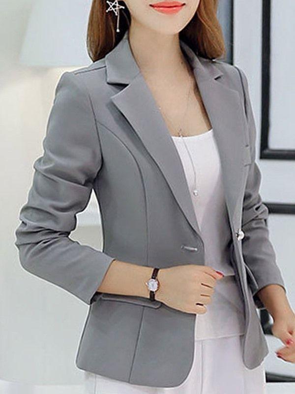 Blazer Casual Multi Colores Moda de Mujer   Sacos de ...